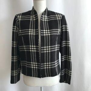 Positive Attitude Black/White Tweed Blazer